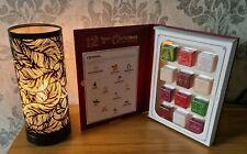 Aroma Lamp Wax Melt Burner Matte Black Leaf Design Touch Christmas Gift Set
