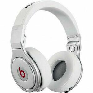 "Beats ""RARE WHITE"" Headphones  by Dr. Dre Beats Pro Silver-WHITE /  Audio Cord"