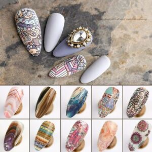Animal Nail Foils for Transfer Paper Stickers Adhesive Nails Wraps Water Marble