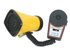 YELLOW ELECTRIC HORN 3 Sounds W/Microphone