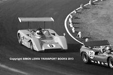 "McLaren M8B Denny Hulme. Riverside Can Am 1969. 10x7"" photo"