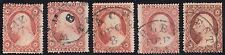 #26A (5) DIFFERENT USED WITH DATE CANCELS CV $750.00 BR547