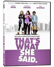 That's What She Said (DVD, 2013) Anne Heche, Marci DeBonis, Kate Rigg