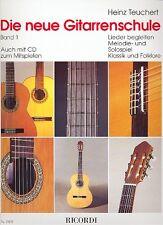 Die neue Gitarrenschule Band 1 von Heinz Teuchert + 1 Sharkfin Plec weiß