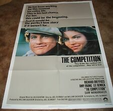 THE COMPETITION Richard Dreyfuss Amy Irving ORIGINAL 1980 ONE SHEET MOVIE POSTER