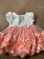 Baby girls 12 month floral dress with Rhinestone accent
