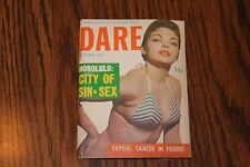 Dare October Oct 1957 Pocket Size Digest Men's Magazine See My Store