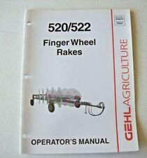 Original Gehl 520 522 Finger Wheel Rakes Operators Manual 909875