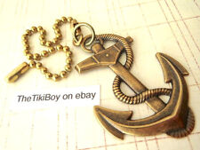 Nautical Anchor Ceiling Fan Pull Chain Antiqued Brass Ball Chain Light Pull NEW