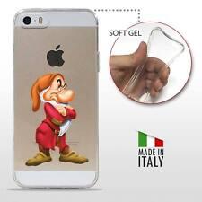 iPhone 5 5S SE TPU CASE COVER PROTETTIVA GEL TRASPARENTE Disney Brontolo