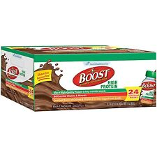 BOOST High Protein Drink Chocolate Flavor Support Bone Health 24 Pk