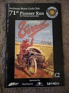 Sunbeam Motor Cycle Club Pioneer Run Programme - 71st 2009