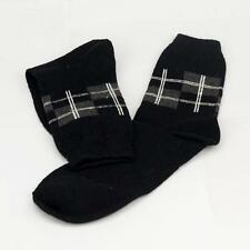 Winter Men Wool Blend Cross stripe Dark Gray Dress Socks Sports SZ 10-13 o2