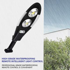 Solar Street Light LED Outdoor Dusk-to-Dawn Area Road Remote Control Spotlight