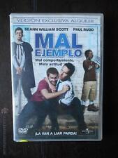 DVD MAL EJEMPLO - EDICION DE ALQUILER - SEANN WILLIAM SCOTT - PAUL RUDD (5R)