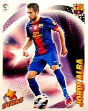 7 Bis Jordi Alba - F.C. Barcelona - STARS - Panini ESTE 2012 2013 12 13
