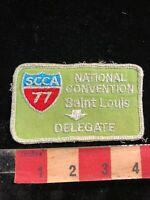 Vtg 1977 SCCA Sports Car Club ST. LOUIS NATIONAL CONVENTION DELEGATE Patch 03I