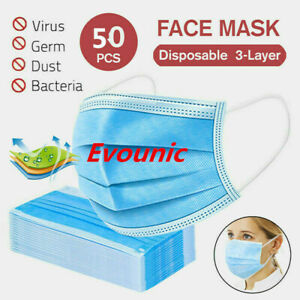 50PCS 3-Ply Disposable Face Mask Ear-loop Procedure Masks mouth cover