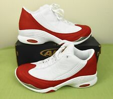 Vintage Early 2000's AND1 Basketball Agility Mid Red & White Sneakers Shoes 10.5