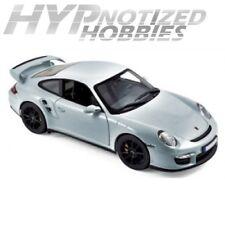 NOREV 1:18 2007 PORSCHE 911 GT2 DIE-CAST SILVER 187594