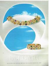 Publicité Advertising 1990 Bijoux Parure BULGARI