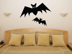 Bats - Halloween Spooky Vampire Scarey Bedroom Decal Wall Art Sticker Picture