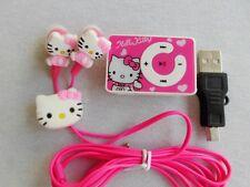 Hello Kitty mp3 Player con clip de fijación testimonio tecnológico las clases rosa