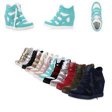 Damen Sneaker Wedges Keilabsatz Trendy Sneakers High 891915 Schuhe