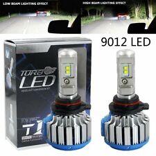 2pcs CANBUS 9012 Car LED Headlight Kit Bulbs White 6000K High Low Beams 30000LM