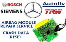MERCEDES W117 1179005800 AIRBAG SRS MODULE CRASH DATA RESET REPAIR SERVICE