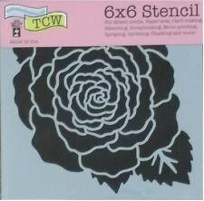 "Red Rose Petal Stencil 6"" Simple Flower Pattern Floral Art Design Craft Template"