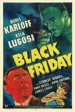 BLACK FRIDAY Movie POSTER 27x40 Boris Karloff Stanley Ridges Bela Lugosi Anne