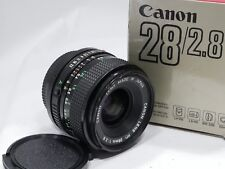 Canon FD 28mm f2.8 prime lens, BOXED fits FD or FL camera mount