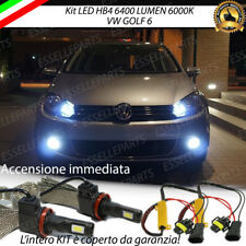 KIT FULL LED VW GOLF 6 VI LAMPADE HB4 FENDINEBBIA CANBUS 6400 LUMEN