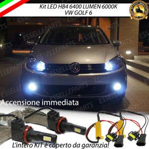 KIT FULL LED VW GOLF 6 VI LAMPADE HB4 FENDINEBBIA CANBUS 6400 LUMEN