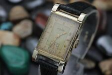 Vintage LeCOULTRE Cal. 11LO VXN 10K Gold Filled Men's Rectangle Dress Watch