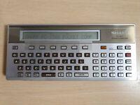 SHARP PC-1500 Pocket Computer mit CE-159, BASIC Calculator, Taschenrechner #746