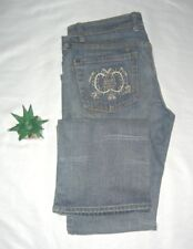 Marithe & Francois Girbaud Jeans Vintage Embroidered Pocket Relaxed Fit Sz 28