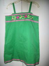 LILLY PULITZER Girls size 12 GROSGRAIN RIBBON TRIM EMBROIDERED FLOWER SUN DRESS