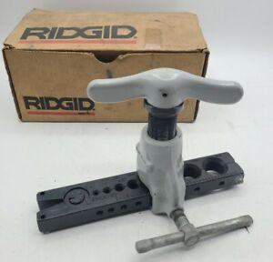 "Ridgid 458 PRECISION RATCHETING FLARE FLARING TOOL 45 DEGREE 1/8""- 3/4""  #1"