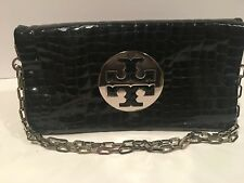 Tory Burch Reva Clutch Patent Leather- Black
