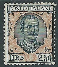 1926 REGNO FLOREALE 2,50 LIRE MH * - Y162