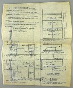 "14""x11"" 1962 Vintage Blueprint Architectural Rendering MID-CENTURY Holiday Inn G"
