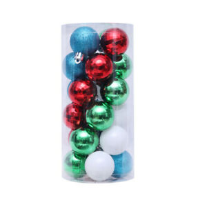 24Pcs 4cm Christmas Ball Baubles Ornaments Xmas Tree Party Home Hanging Decor