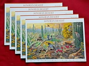 Five Sheets x 10 = 50 Nature of America: Sonoran Desert 33¢ US USA Stamps # 3293