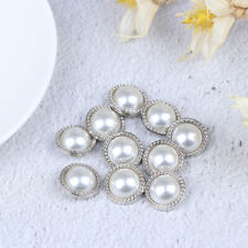 10pcs Pearl Metal Shank Buttons for Sewing Scrapbooking DIY Craft Decorationyu