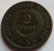 1865 Two Cents Piece, Vintage 2C coin