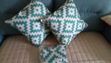 18' Geometric Cotton Linen Pillow Case Square Cushion Cover Set Of 4