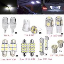14PCS White LED For Car Dome Map License Plate Light Bulb Interior LED Light Kit