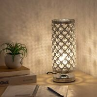 Crystal Table Lamp Bedside Nightstand Desk Reading Lamp Bedroom Living Room Gift
